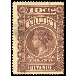 canada revenue stamp nfr2 queen victoria 10 1898