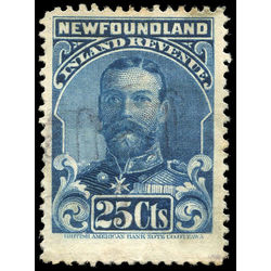 canada revenue stamp nfr18b king george v 25 1910