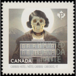 canada stamp 2865i ghost of caribou hotel carcross yt 2015