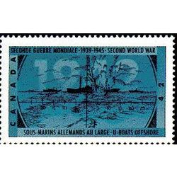 canada stamp 1451 u boats offshore 42 1992