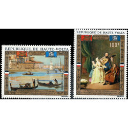 burkina faso stamp c100 c101 unesco campaign to save venice 1972