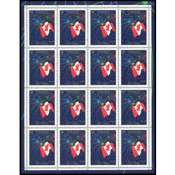 Canada stamp 1278 canadian flag with fireworks 39 1990 m pane bl