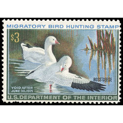 us stamp rw hunting permit rw37 ross s geese 3 1970