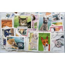 cats dogs on stamps
