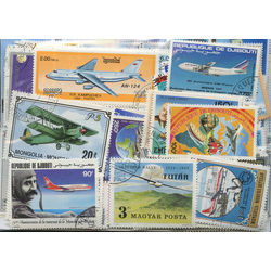 aviation or planes on stamps