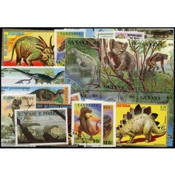 dinosaurs prehistoric animals on stamps