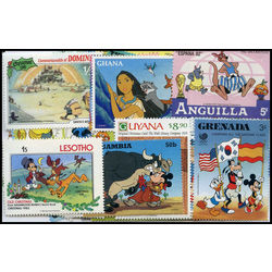 disney cartoons on stamps