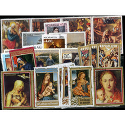 paintings on stamps