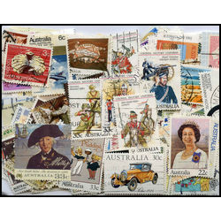 australia large commemoratives stamp packet