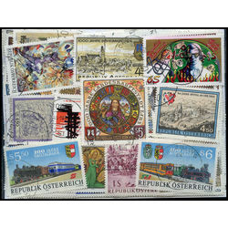 austria commemoratives stamp packet