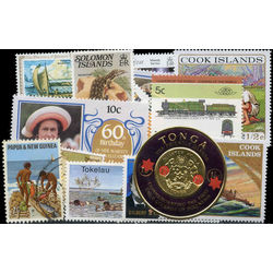british pacific islands stamp packet