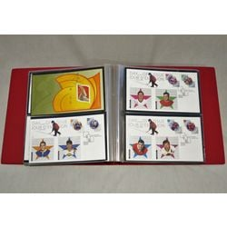 unisafe fdc album with 103 different official canada post first day covers from january 2001 to may 2004
