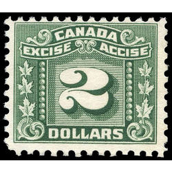 canada revenue stamp fx85 three leaf excise tax 2 1934