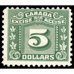 canada revenue stamp fx89 three leaf excise tax 5 1934
