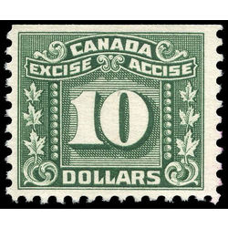 canada revenue stamp fx91 three leaf excise tax 10 1934