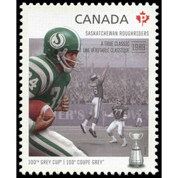 canada stamp 2567e saskatchewan roughriders george reed 1939 a true classic 2012