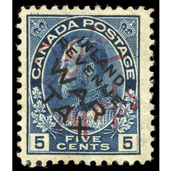 canada stamp mr war tax mr2bi war tax 5 1915 u vf 001