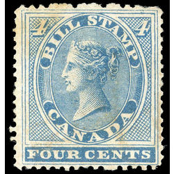 canada revenue stamp fb04 first bill issue 4 1864