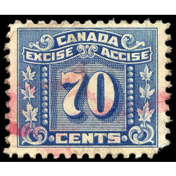 canada revenue stamp fx81 three leaf excise tax 70 1934