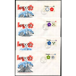 four first day covers 508p 511p