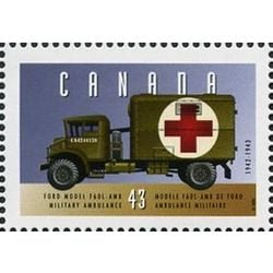 canada stamp 1527a ford military ambulance 1942 1943 43 1994