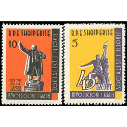 albania stamp 647 8 monuments of october revolution 1963