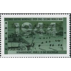 canada stamp 1537 d day beachhead 43 1994