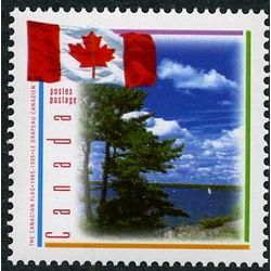 canada stamp 1546 flag with scene of lake 43 1995