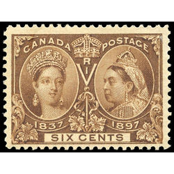 canada stamp 55 queen victoria jubilee 6 1897 m f vf 007