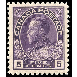 canada stamp 112a king george v 5 1924