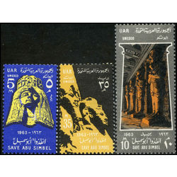 egypt stamp 590 2 historic monuments in nubia 1963