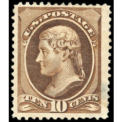 us stamp postage issues 209 jefferson 10 1881