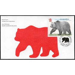 canada stamp 1694 grizzly bear 8 1997 fdc 002