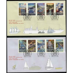 canada stamp 1734a canals 1998 fdc 001