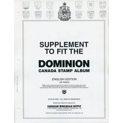 annual supplement for the dominion canada stamp album english