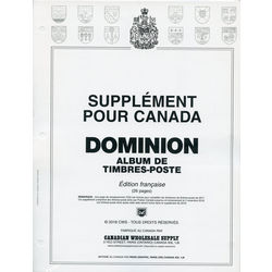 annual supplement for the dominion canada stamp album french