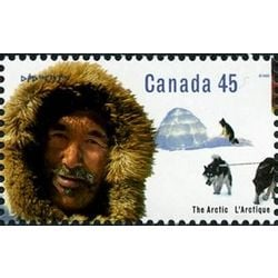 canada stamp 1576 inuk man igloo sled dogs 45 1995