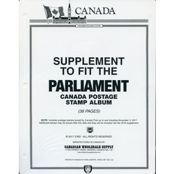 annual supplement for the parliament canada stamp album