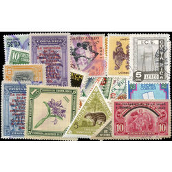 costa rica stamp packet