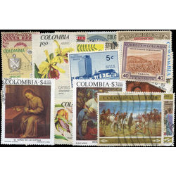 colombia stamp packet