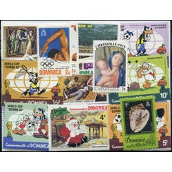 dominica stamp packet