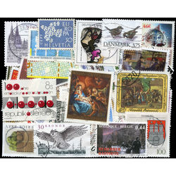 europe mixture commemoratives high values