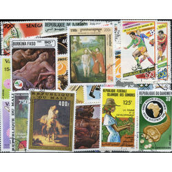 french colonies pictorials stamp packet