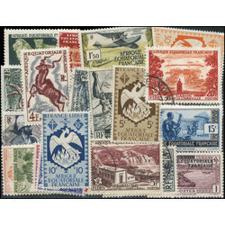 french equatorial africa stamp packet