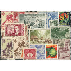 french west africa stamp packet