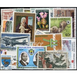 gabon stamp packet stamp packet