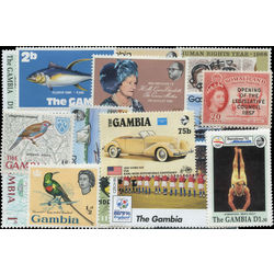 gambia stamp packet