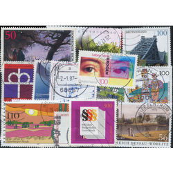 germany west pictorials stamp packet