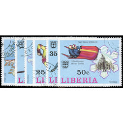 liberia stamp 727 732 12th winter olympic games innsburk 1976