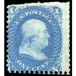 us stamp postage issues 63b franklin 1 1861